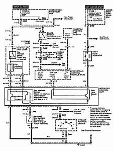Acura Cl  1997 - 1999  - Wiring Diagrams - Shift Interlock