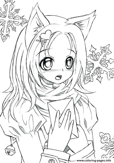 cute girl anime coloring pages free printable new clip