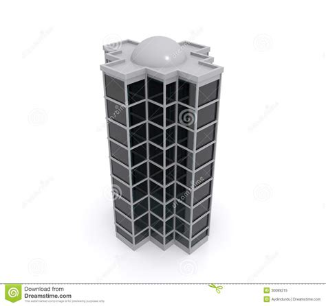 house models plans 3d model of highrise building royalty free stock photo