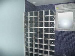 carreaux de verre salle de bain inspirations et mur brique With salle de bain mur en verre