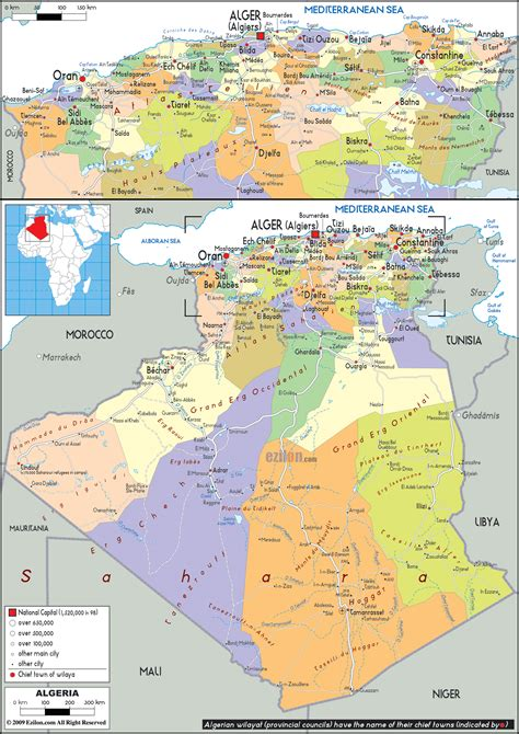 Carte Algerie Villes by Maps Of Algeria Map Library Maps Of The World