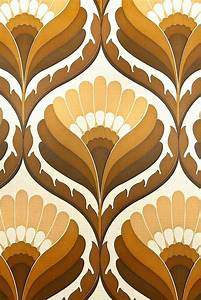 Funky Geometric Retro Wallpaper. Superb 1970s retro ...
