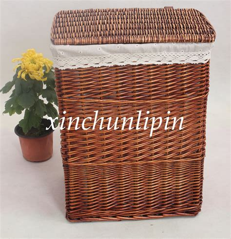 large storage basket with lid wicker rattan storage basket with lid large storage bucket laundry bucket rustic knitted basket