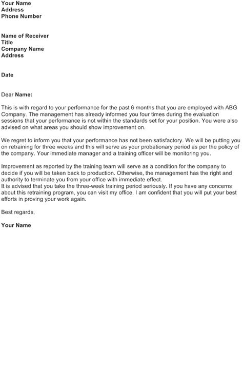 reprimand letter sample   business letter