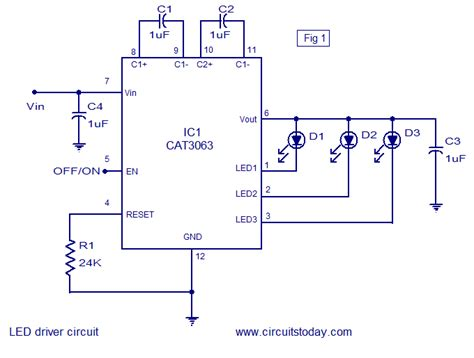 channel led driver circuit  cat ic circuit
