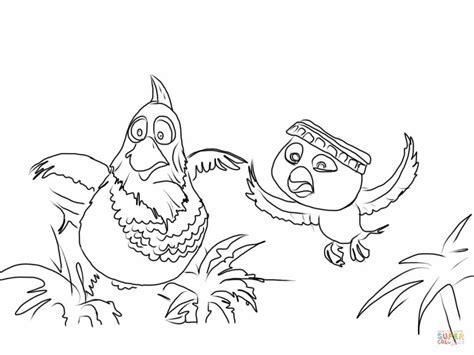 Pedro And Nico Are Flying In The Jungle Coloring Page