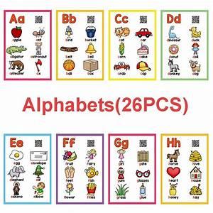 Alphabet Flash Cards App 26 Letters Alphabet English Flash Cards Abc Abc Word