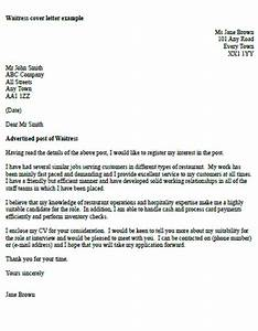 waitress cover letter example icoverorguk With cover letter for waitressing job