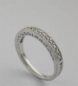special diamond wedding band ring with pierced work With work wedding rings