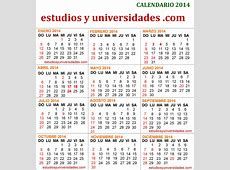 ALMANAQUE 2014 FERIADOS EN ARGENTINA VERSION PARA IMPRIMIR