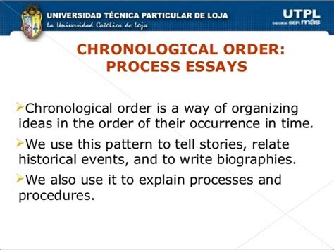 What Is Chronological Order what does chronological order what are some exles