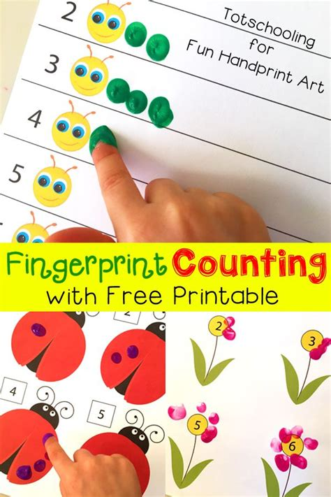 Free Spring Fingerprint Counting Printables | Caterpillar ...