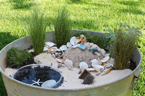Einen Minigarten Für Meerjungfrauen Gestalten Das Ist