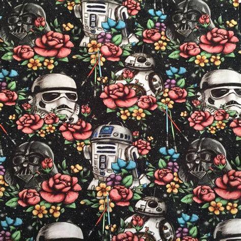 Star Wars Galaxy Wallpaper Pre Order Floral Wars Black Galaxy Cotton Lycra Fabric All Gone Pinterest Darth