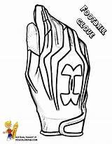 Football Glove Coloring Outs Sports Yescoloring Boys Quarterback Blooded sketch template