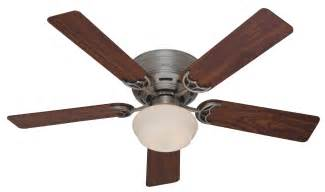 hunter 52 quot low profile iii plus ceiling fan 20801 in