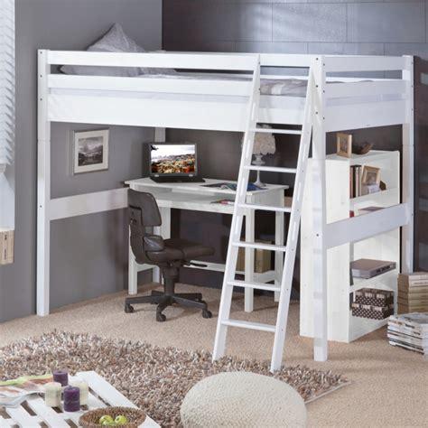 chambre chez personne ag馥 lit mezzanine blanc