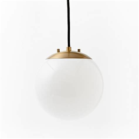 brass globe pendant light globe pendant antique brass milk finish west elm