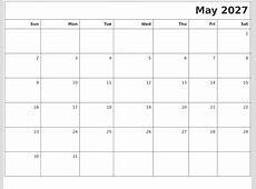 January 2027 Month Calendar