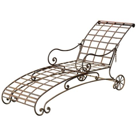 chaise metal vintage 42 best chaise lounging w vintage wrought iron images on