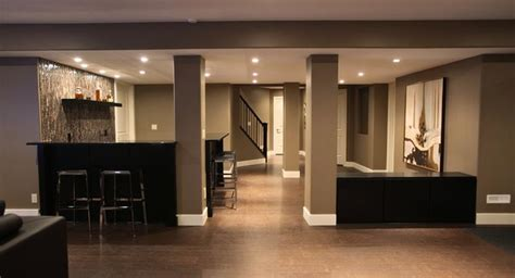 finished basement contemporary design ideas page