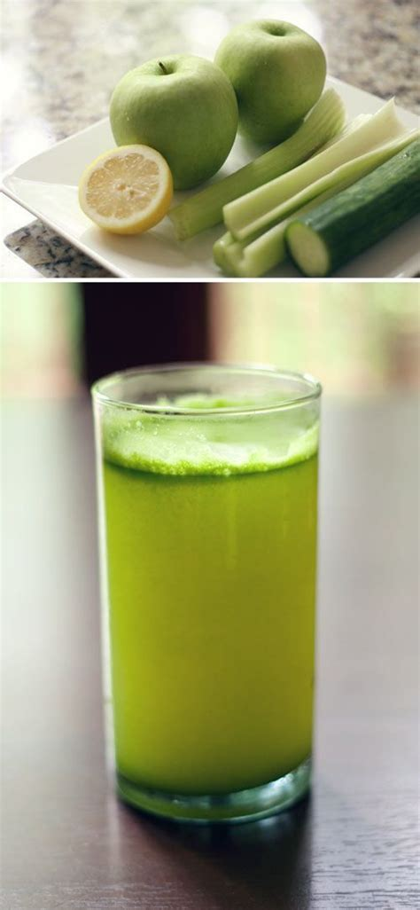 juice ginger celery lemon raw apple recipes granny smith spinach smoothie drink juicing root recipe cucumber juices apples juicer ratingle