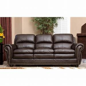 Abbyson living harrison 4 piece leather sofa set in brown for Eurodesign brown leather 5 piece sectional sofa set