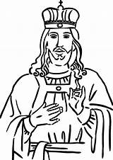 King Coloring Pages Christ Play Kidsplaycolor Samuel sketch template
