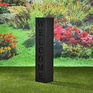 Decoration Jardin Metal : colonne d coration jardin en m tal mod le welcome noir ~ Teatrodelosmanantiales.com Idées de Décoration