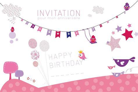 Carte Anniversaire Fille by Carte D Invitation Anniversaire Fille 7 Ans Anniversaire
