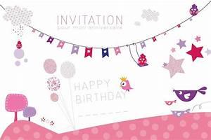 Theme Anniversaire Fille : carte d invitation anniversaire fille 7 ans anni ~ Melissatoandfro.com Idées de Décoration