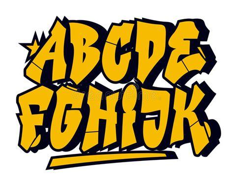 Graffiti Style Font : Graffiti Style Font. Vector Alphabet (part 1) Stock Vector