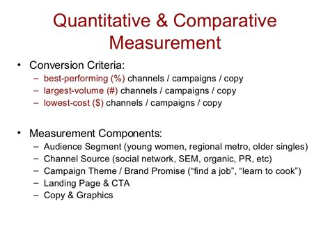 quantitative comparative measurement conversion
