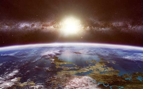 Sun Shining Down on Earth | Space | Galaxien, Planeten, Bilder