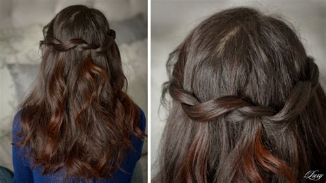 twisted waterfall hairstyle youtube