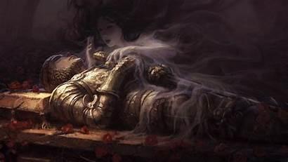 Knight Fantasy Princess Background Wallpapers Dark Sword