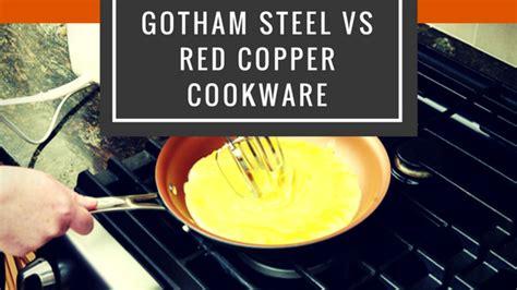 gotham steel  red copper  pcs cookware set comparison