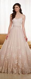 mermaid ball gown blush party dresses for women With blush colored wedding dress