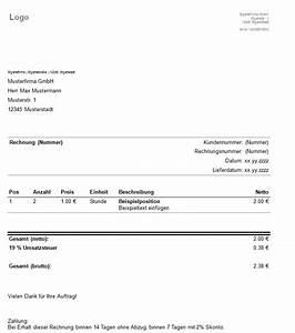 Inhalt Rechnung : rechnungsvorlage kostenlose muster herunterladen ~ Themetempest.com Abrechnung