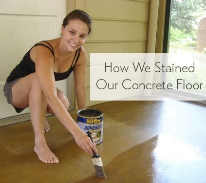 Staining A Concrete Floor Is Easy, Just Follow Our Step By