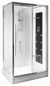 Cabine De Douche Rectangulaire : cabine de douche rectangulaire avec porte coulissante ~ Melissatoandfro.com Idées de Décoration