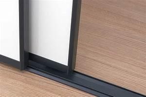 kit porte de placard coulissante tout inclus centimetrecom With rail bas porte coulissante