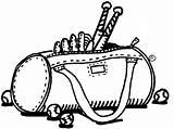 Clipart Bag Bat Clip Softball Gym Cliparts Library sketch template