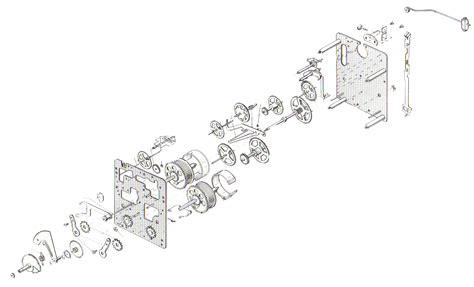 Chain Clock Movement Parts Diagram