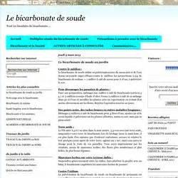 Ph Bicarbonate De Soude : les traitements bio pearltrees ~ Dailycaller-alerts.com Idées de Décoration