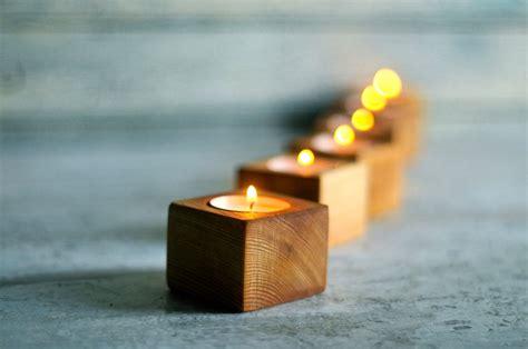 wood lights candles wood tea light candle holder wood planter wedding decor