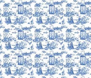 Toile De Jouy : toile de jouy blue police boxes fabric debi birkin spoonflower ~ Teatrodelosmanantiales.com Idées de Décoration