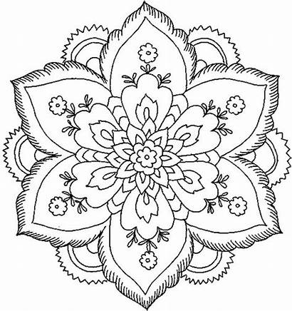 Mandala Coloring Pages Flower Nature Adults Mandalas