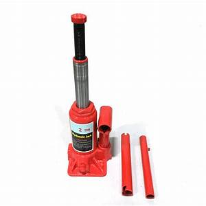Durable Red Steel 2t Hydraulic Bottle Jack Portable Repair