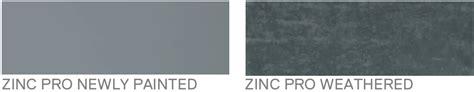 what color is zinc color of zinc colors finishes architectural system